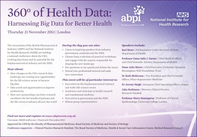 ABPI/NIHR Data conference
