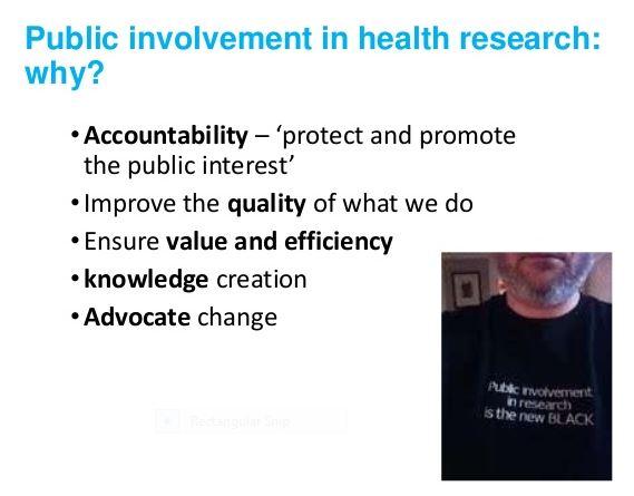 Why public involvement